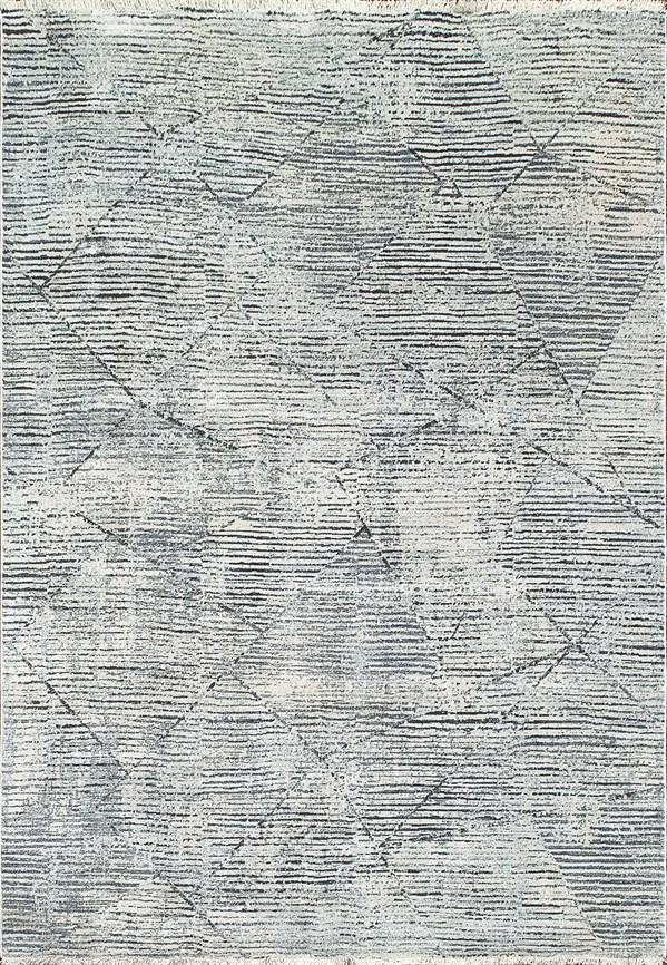Ivory Blue (150) Contemporary / Modern Area Rug