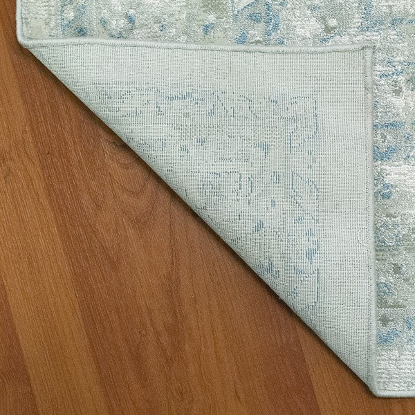 Ivory, Blue (150) Traditional / Oriental Area Rug