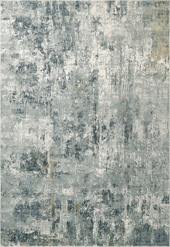 Grey, Blue (950) Abstract Area Rug