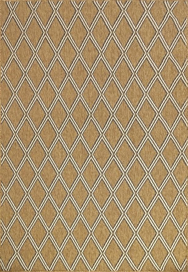 Gold, Ivory (710) Outdoor / Indoor Area Rug