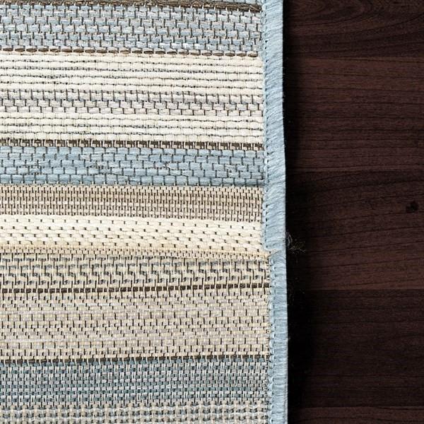 Ivory, Blue (5003) Outdoor / Indoor Area Rug