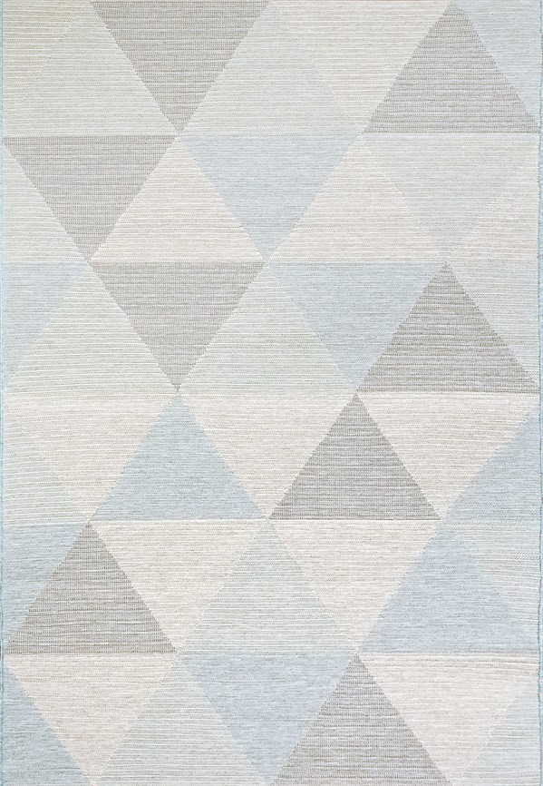 Blue, Ivory (5002) Outdoor / Indoor Area Rug