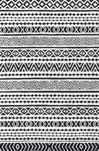 Grey, Black (990) Moroccan Area Rug