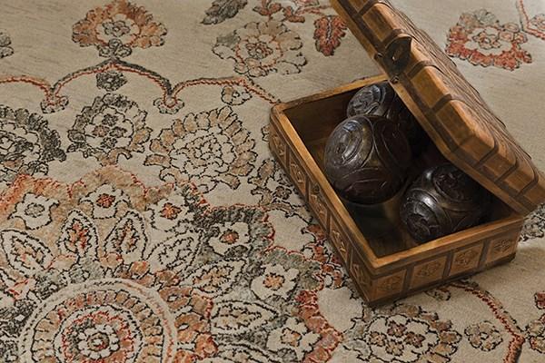 Beige, Bronze (6474) Traditional / Oriental Area Rug