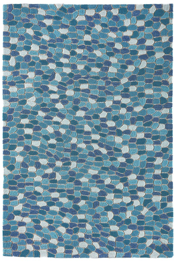 Aqua (1965-04) Contemporary / Modern Area Rug