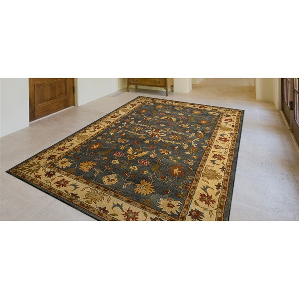 Blue (9062-03) Traditional / Oriental Area Rug