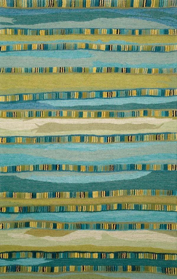 Blue (9625-03) Striped Area Rug