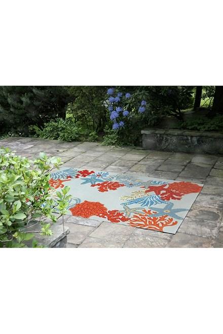 Aqua (2256-04) Outdoor / Indoor Area Rug