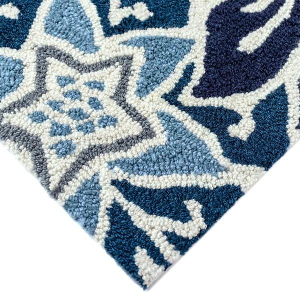 Blue (2180-03) Outdoor / Indoor Area Rug