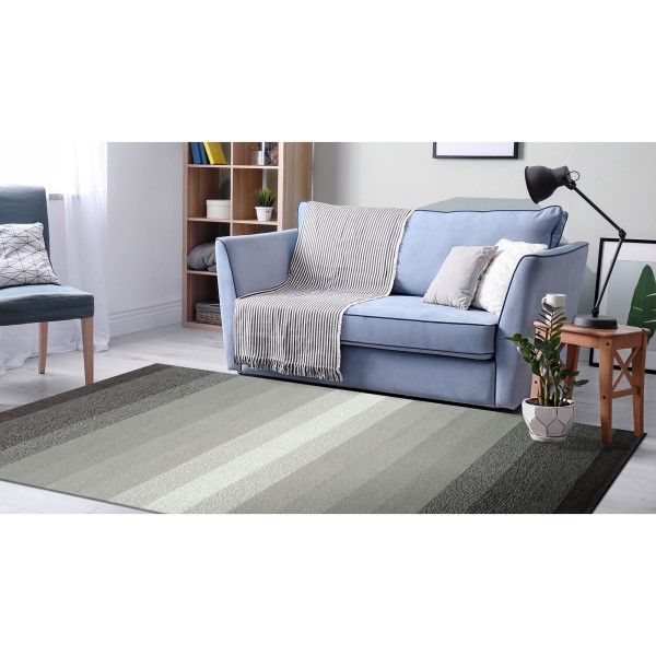Charcoal (2258-47) Striped Area Rug