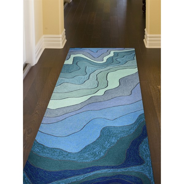 Blue, Navy, Sage (2267-03) Contemporary / Modern Area Rug