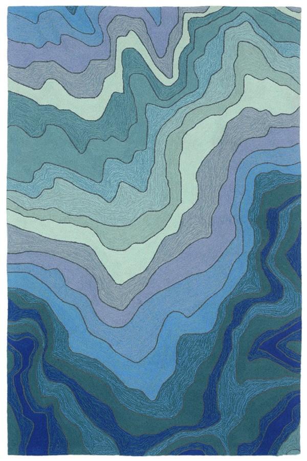 Blue, Navy, Sage (2267-03) Contemporary / Modern Area Rug
