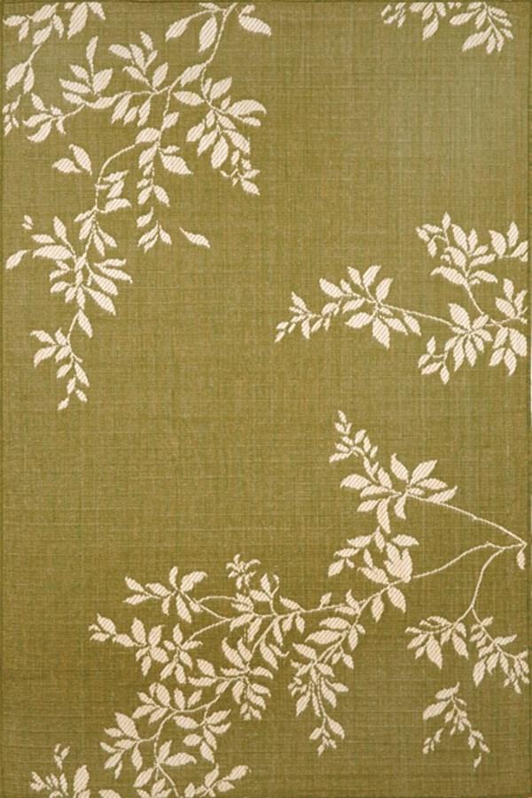 Green (1752-76) Floral / Botanical Area Rug