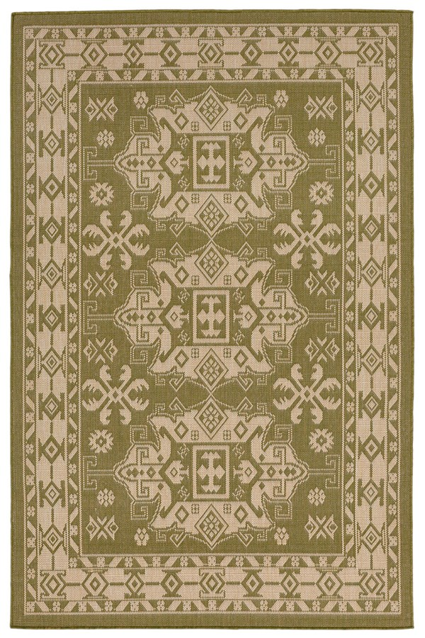 Green, Ivory (1781-76) Traditional / Oriental Area Rug