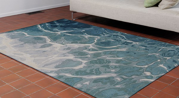 Blue (9146-03) Abstract Area Rug
