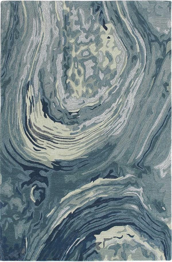 Aqua (9147-04) Abstract Area Rug