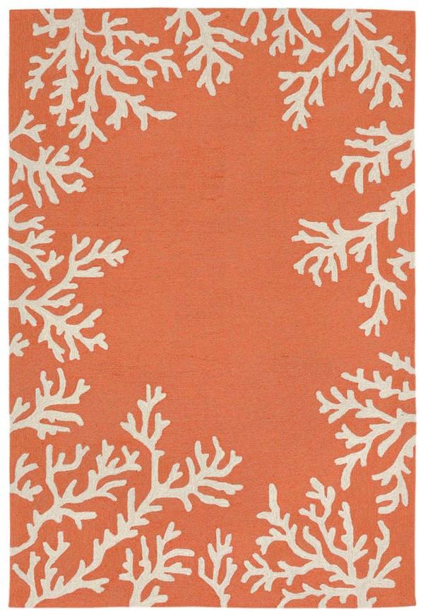 Coral, Ivory (1620-17) Outdoor / Indoor Area Rug