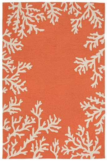Capri Coral Border arearugs