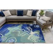 Product Image of Blue, Navy, Ivory (1665-04) Outdoor / Indoor Area Rug