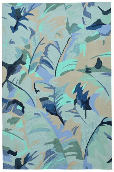 Blue (1668-03) Floral / Botanical Area Rug