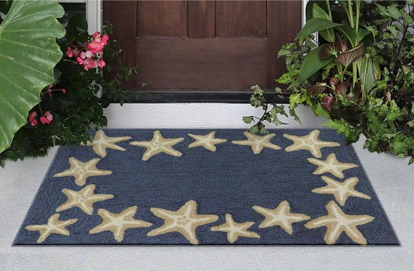 Denim, Navy (33) Outdoor / Indoor Area Rug