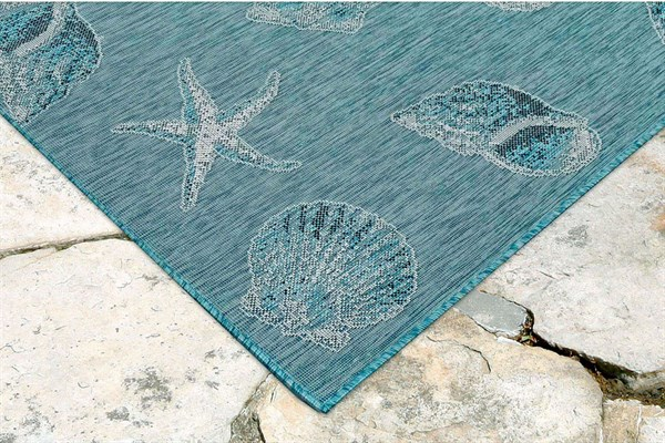 Aqua (04) Outdoor / Indoor Area Rug