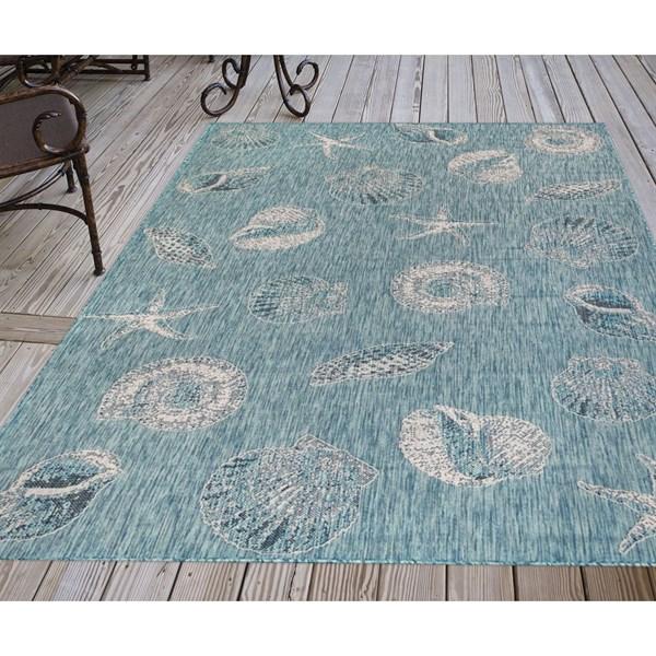 Aqua (04) Outdoor / Indoor Area Rug