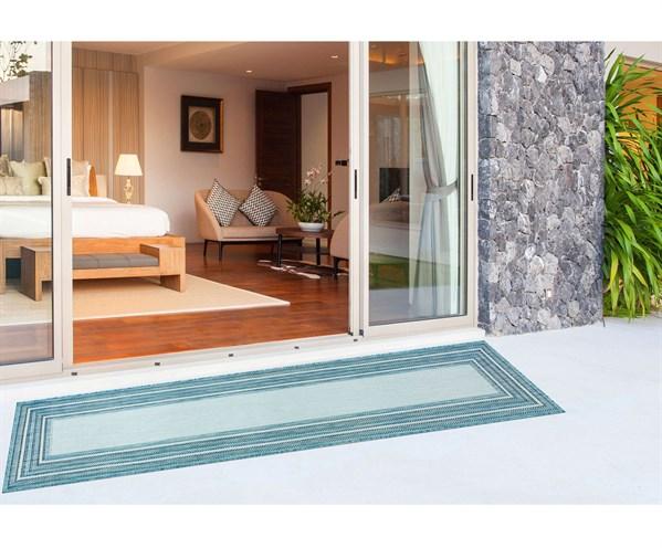 Aqua Outdoor / Indoor Area Rug