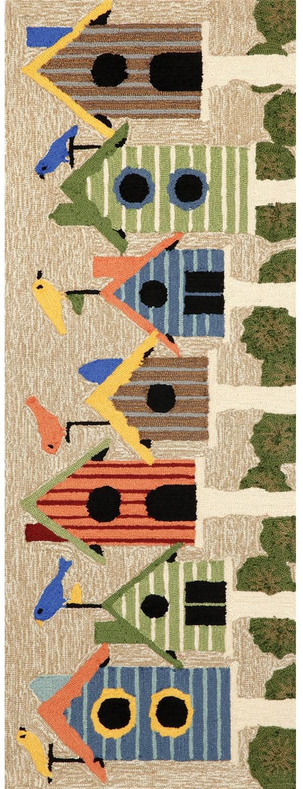 Ivory, Beige (1441-44) Outdoor / Indoor Area Rug