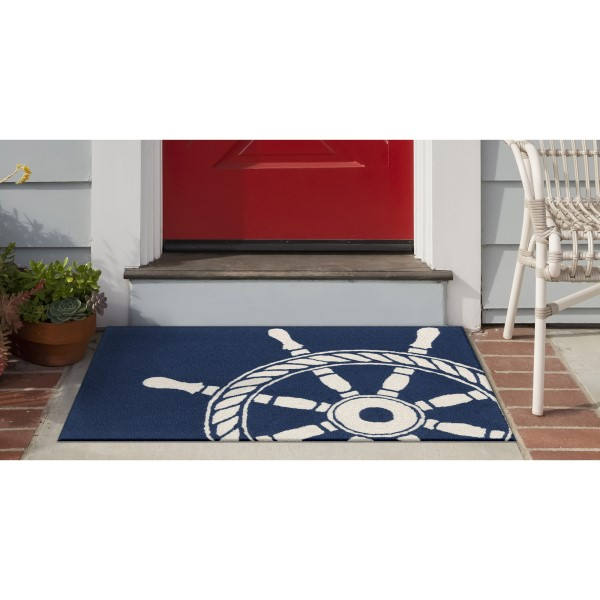 Navy (1456-33) Outdoor / Indoor Area Rug