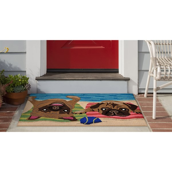 Brown (1520-44) Outdoor / Indoor Area Rug