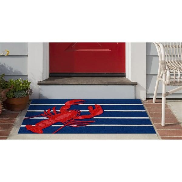 Navy, Red, White (1595-33) Outdoor / Indoor Area Rug