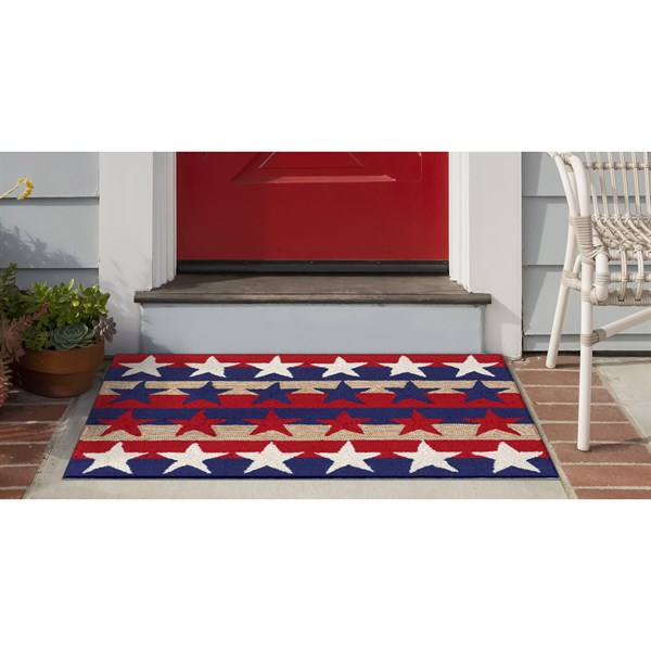 Red, White, Blue (1804-14) Outdoor / Indoor Area Rug