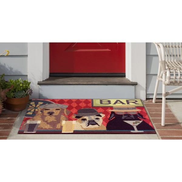 Burgundy, Black, Brown (1809-37) Outdoor / Indoor Area Rug