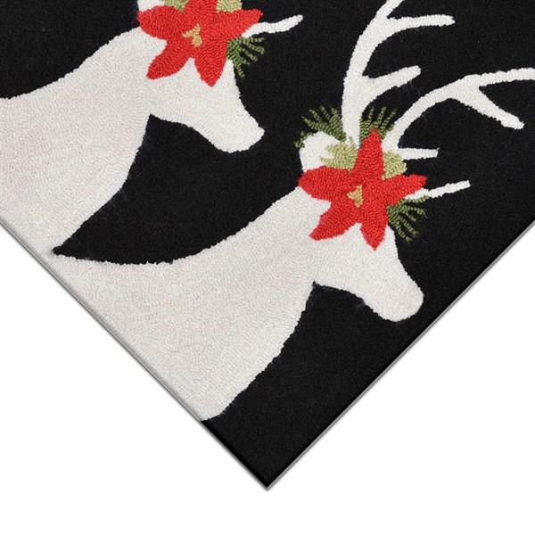 Black (1818-48) Novelty / Seasonal / Sports Area Rug