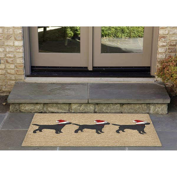 Liora Manne Front Porch Dogs Christmas Rugs Rugs Direct