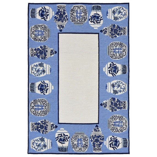 Blue (2410-03) Novelty / Seasonal / Sports Area Rug