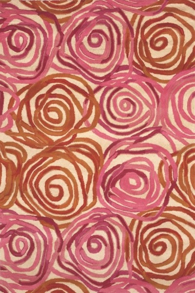 Pink (8106-18) Contemporary / Modern Area Rug