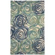Product Image of Contemporary / Modern Blue (8106-22) Area Rug