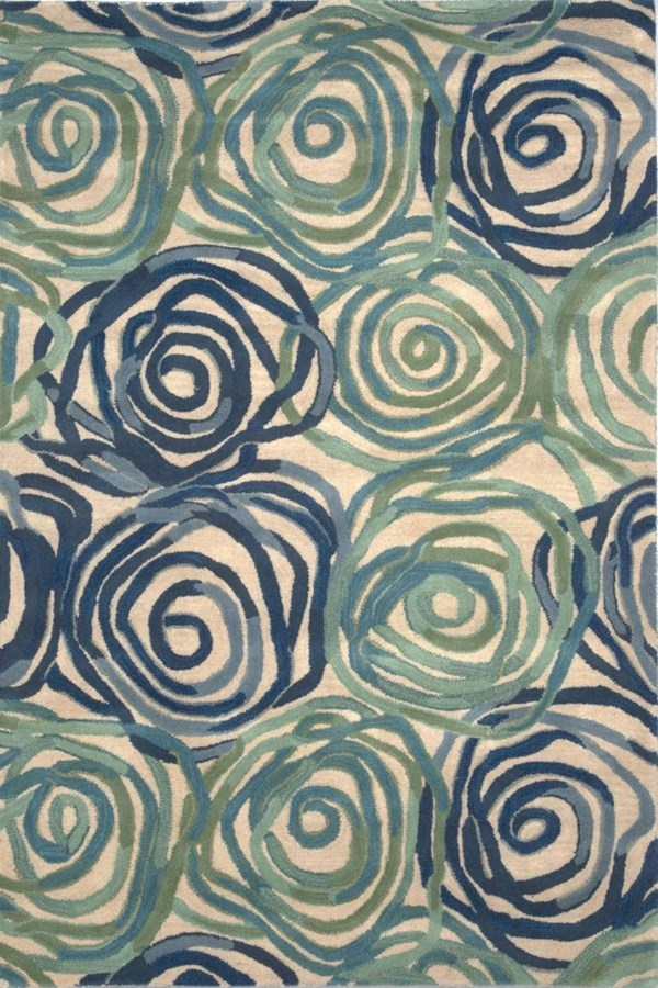 Blue (8106-22) Contemporary / Modern Area Rug