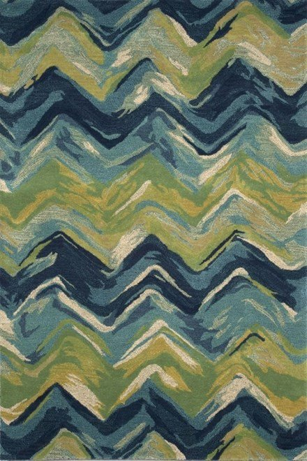Blue (8107-22) Chevron Area Rug