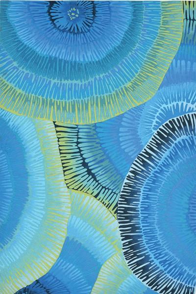 Blue (4302-04) Outdoor / Indoor Area Rug
