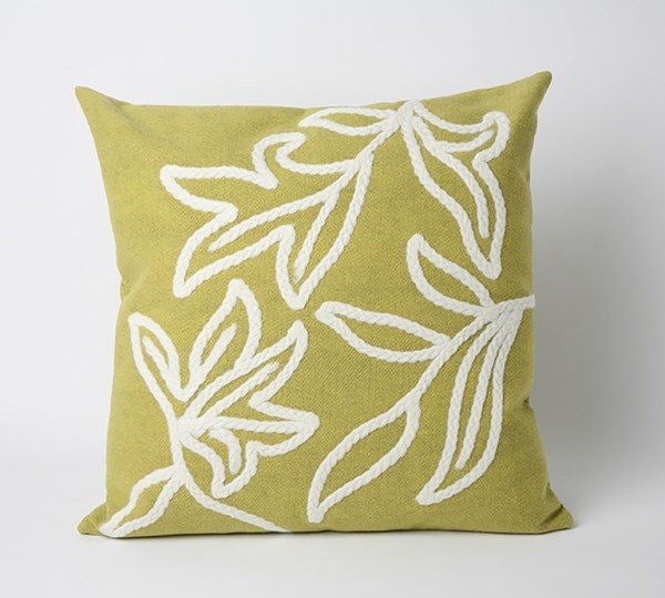 Lime, White (3076-06) Outdoor / Indoor pillow