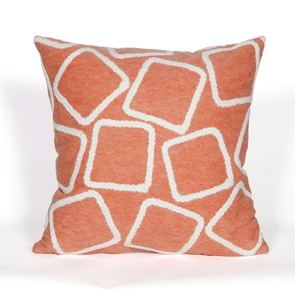 Coral, White (4087-17) Outdoor / Indoor pillow