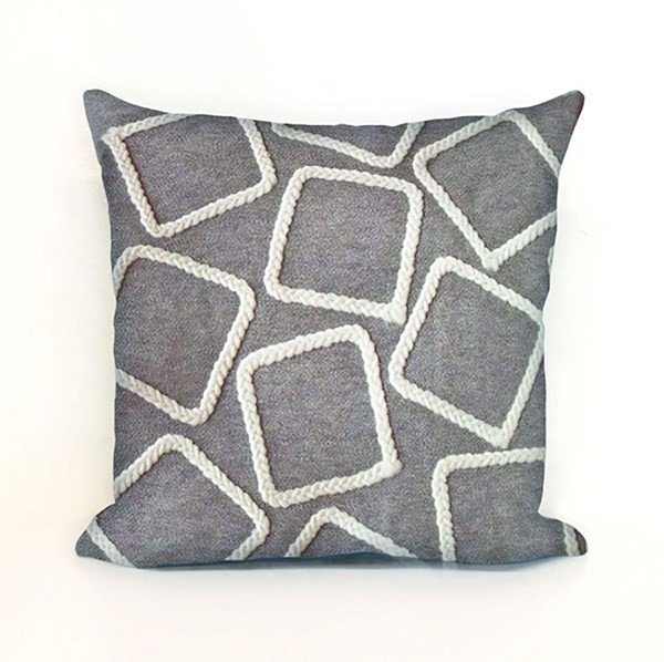 Silver, White (4087-38) Outdoor / Indoor pillow