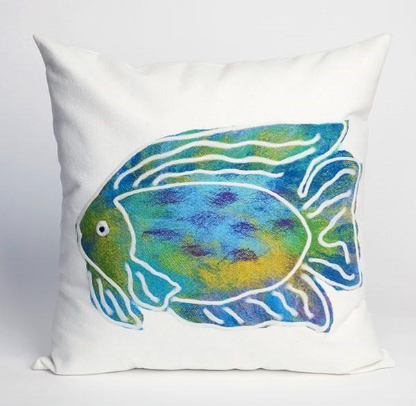 Blue, Green, Purple, White (3124-04) Outdoor / Indoor pillow