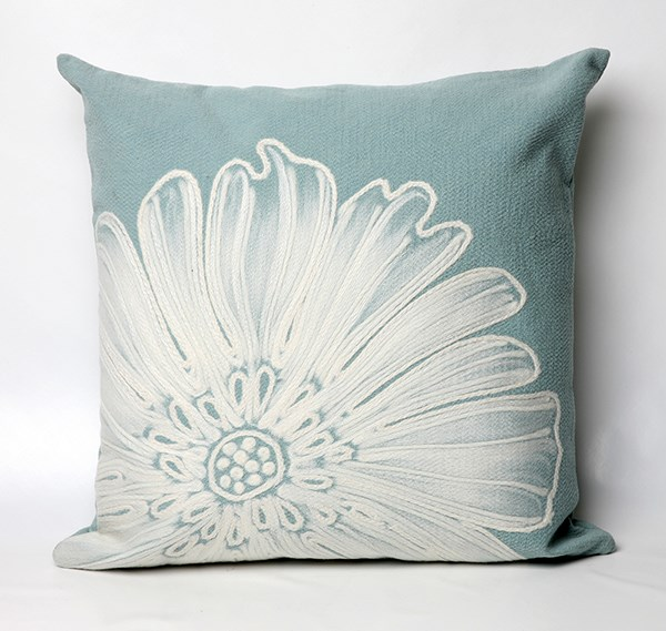Aqua, White (3190-04) Outdoor / Indoor pillow