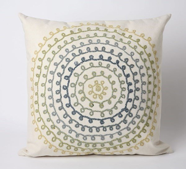 Ivory, Blue, Green, Yellow (4105-06) Outdoor / Indoor pillow