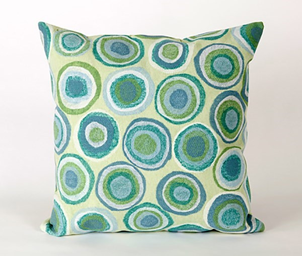 Green, Blue, White (4128-04) Contemporary / Modern pillow
