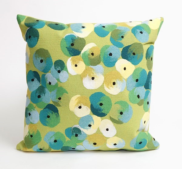 Lime, Blue, Green, Ivory (4138-06) Outdoor / Indoor pillow